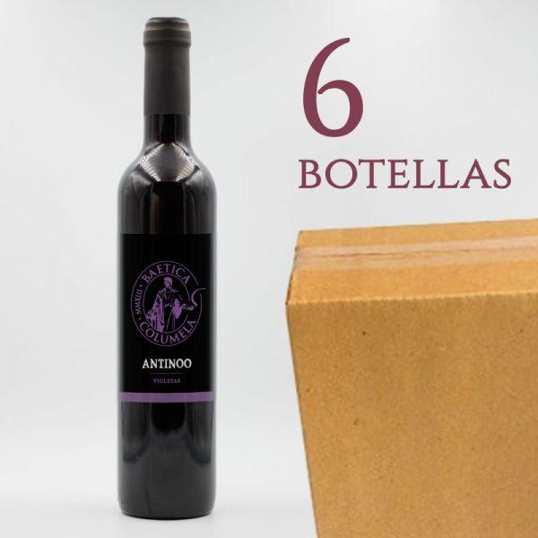 Antinoo Baetica Columela Vino Tinto de Violetas Arqueogastronomía Caja 6 botellas