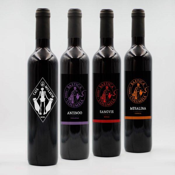 Baetica Columela Vinos Pack 4 botellas Arqueogastronomía