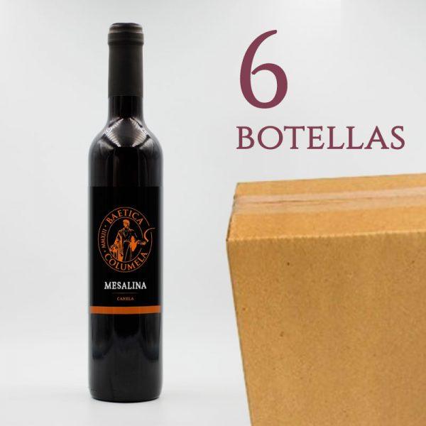 Mesalina Baetica Columela Vino Tinto de Canela Arqueogastronomía Caja 6 Botellas