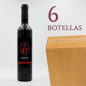 Sanguis Baetica Columela Vino Tinto de Rosas Arqueogastronomía Caja 6 botellas
